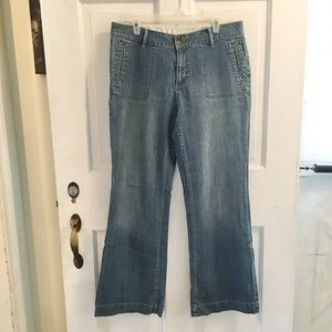 *4for$25 ST.JOHN'S BAY WideLeg Trouser Jeans SZ 14